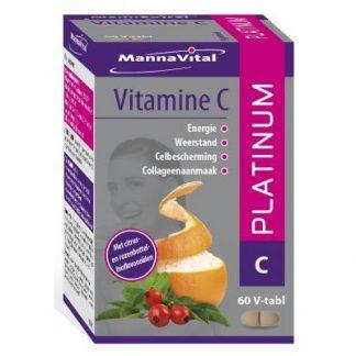 weerstand zenuwstelsel huid haren nagels botten Mannavital Vitamine C Platinum