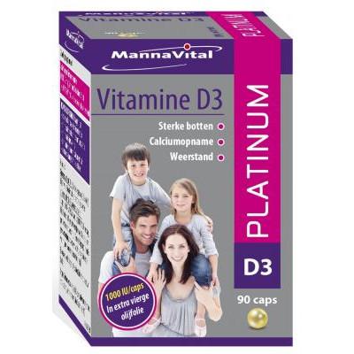 botten tanden spieren celdeling immuunsysteem Mannavital Vitamine D3 Mannavital Vitamine D3 Platinum