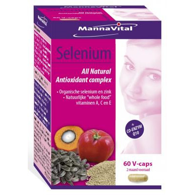 antioxidanten weerstand huid ogen Mannavital Selenium complex