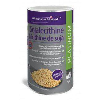 cholesterol vetten lever choline Mannavital Soja Lecithinegranulaat Platinum gmo-vrij