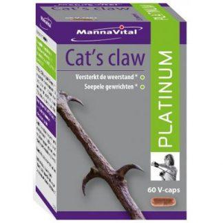 weerstand ontstekingen Mannavital Cat's claw Platinum