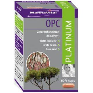 zware benen vermoeide benen vlotte circulatie Mannavital OPC Platinum