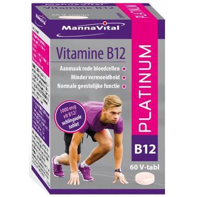 rode bloedcellen zenuwstelsel vermoeidheid immuunsysteem psychologische functie Mannavital Vitamine B12 Platinum