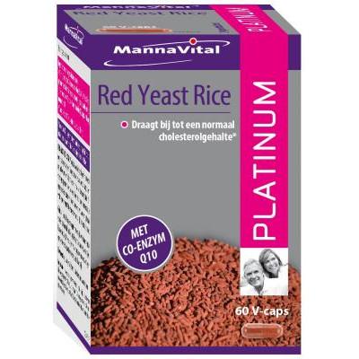 cholesterol rode rijst Mannavital Red Yeast Rice Platinum