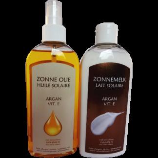 argan vitamine E zonder parabenen Zonne olie met argan en vitamine E