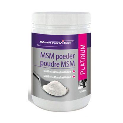 spieren gewrichten ontstekingen allergieën huid haar nagels Mannavital MSM poeder Platinum