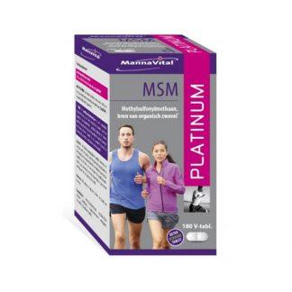spieren gewrichten ontstekingen allergieën huid haar nagels Mannavital MSM Platinum