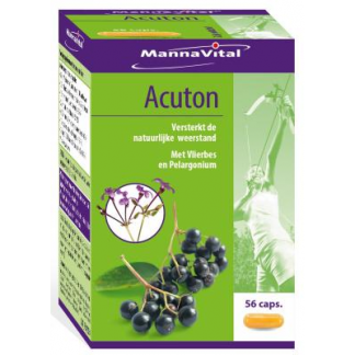 weerstand immuunsysteem luchtwegen keel vlierbes Mannavital Acuton