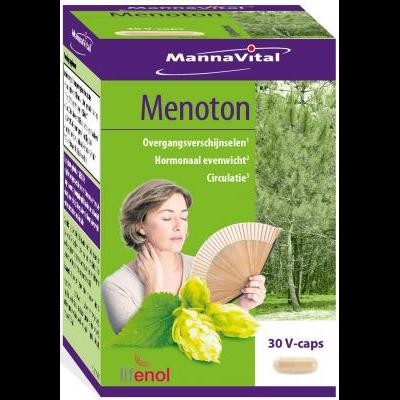 menopauze overgang opvliegers vapeurs prikkelbaarheid Mannavital Menoton