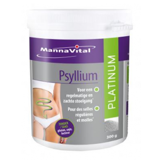 stoelgang darmtransit aambeien vezels probiotica Mannavital Psyllium Platinum