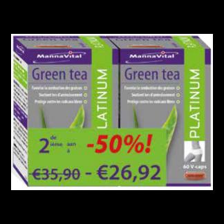afslanken antioxidant concentratie energie hart Mannavital Green Tea