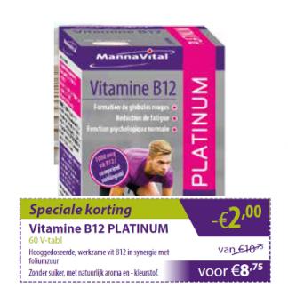 rode bloedcellen zenuwstelsel vermoeidheid immuunsysteem psychologische functie Vitamine B12 Platinum min 2 euro