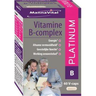 energie immuunsysteem zenuwstelsel Mannavital Vitamine B-complex Platinum