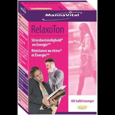 stress energie prestaties Mannavital Relaxoton