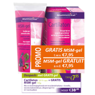 Cartilaton met gratis MSM gel