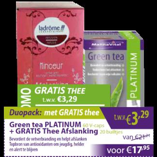 Green tea Platinum met gratis thee Afslanking
