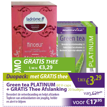 Green tea Platinum met gratis thee Afslanking