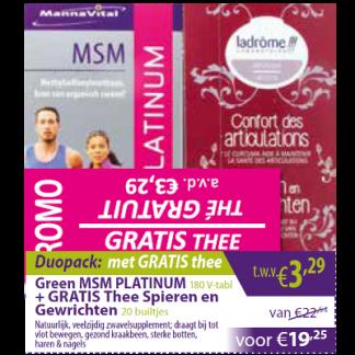 MSM Platinum met gratis thee
