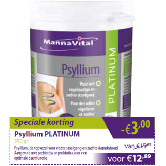 Psyllium Platinum -€3