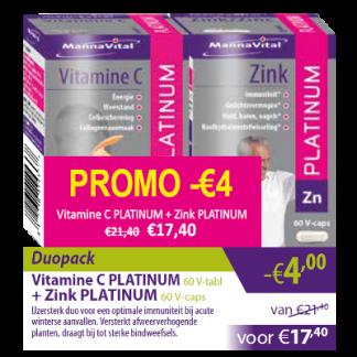 Vitamine C Platinum + Zink Platinum -€4