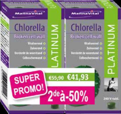 Chlorella Platinum Duopack 2e aan -50%