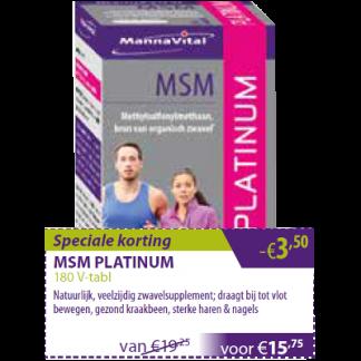 MSM Platinum -€3,50